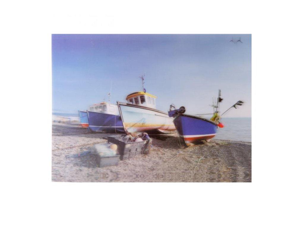 Dekorativní obraz Lodě na břehu ve 3D