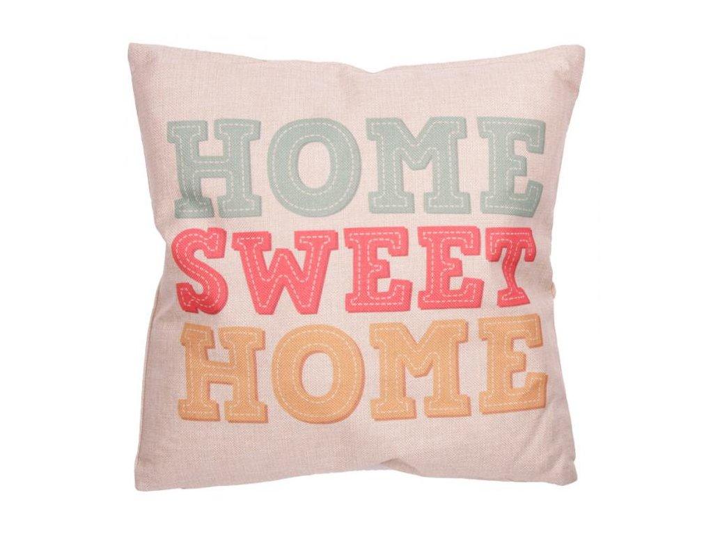 Cushion Polštář s motivem Home Sweet Home 43x43 cm