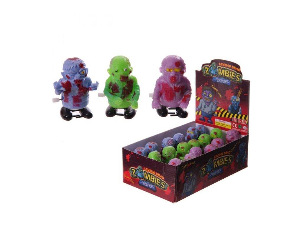Natahovací skákací hračka Zombie