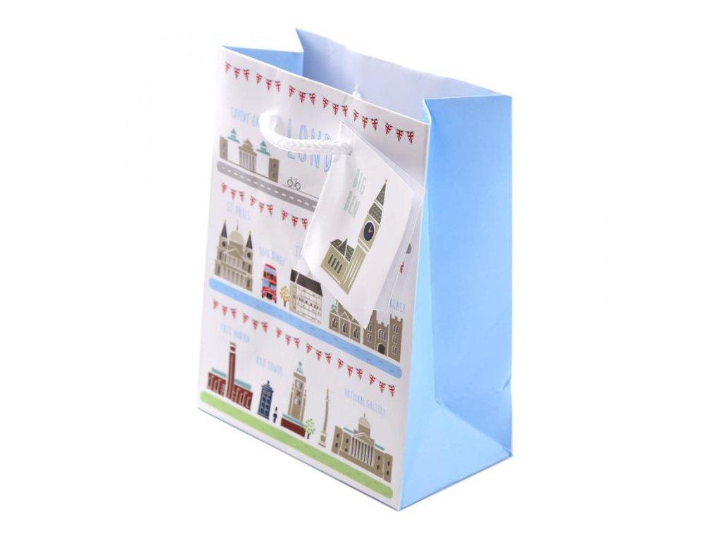 Dárková taška s motivem Londýna, různé velikosti