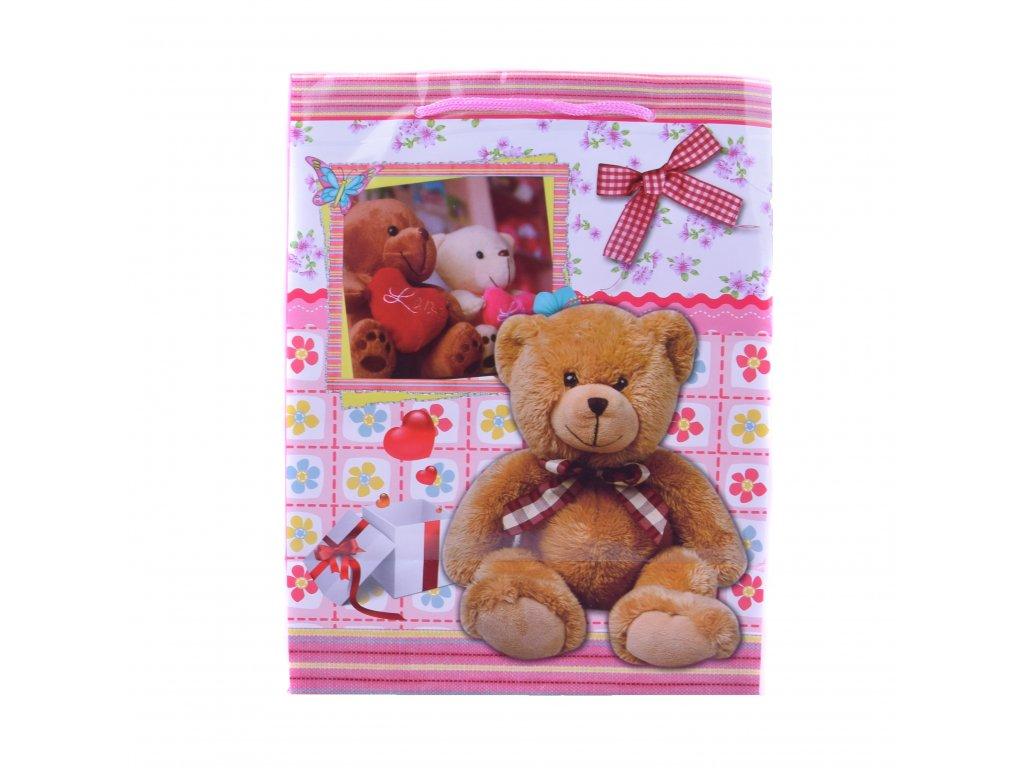 Dárková taška Zamilovaní medvídci střední velikost