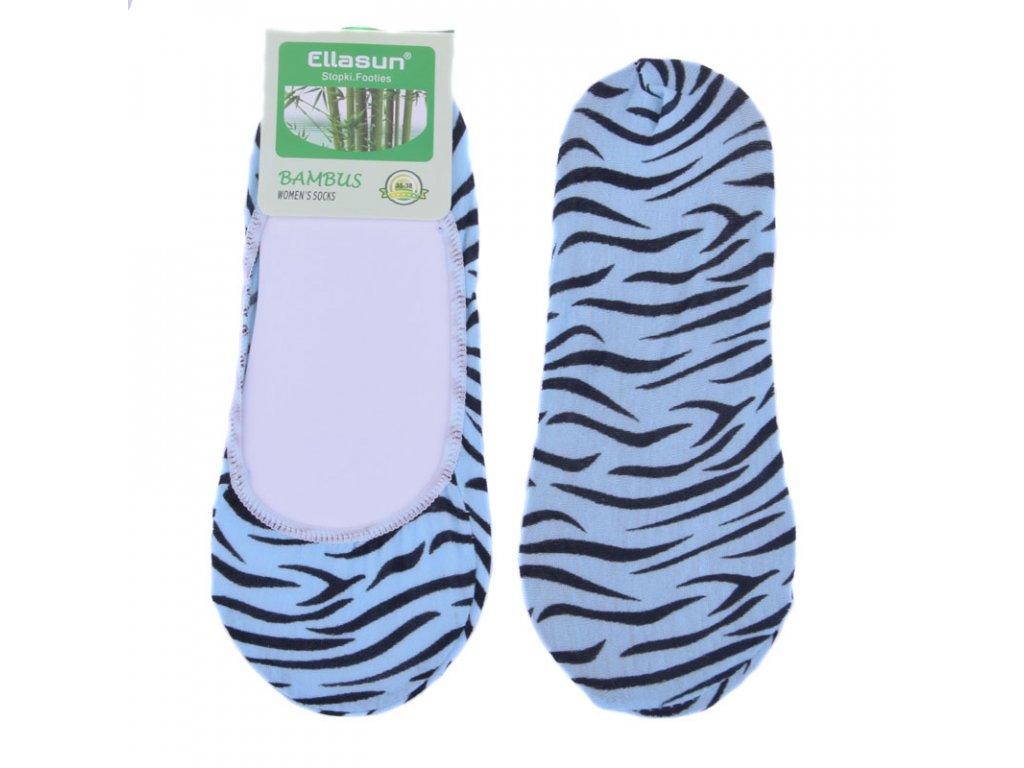 Bambusové ponožky do balerín tygrované 6 barev