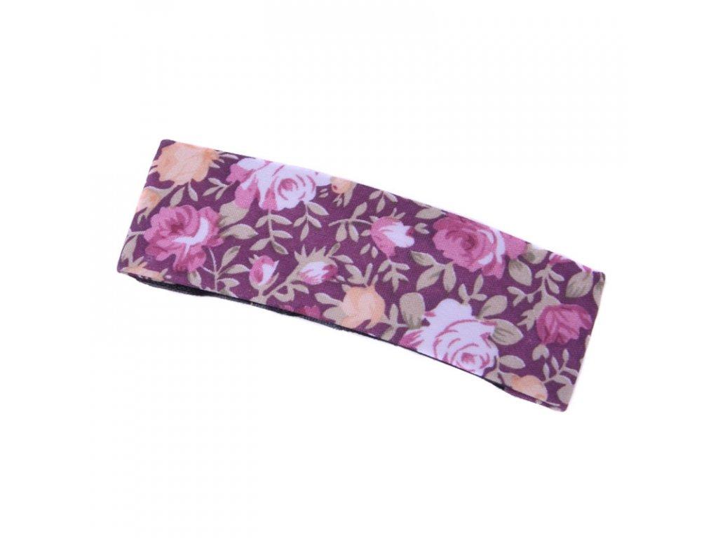 Sponka do vlasů Flower - růžová