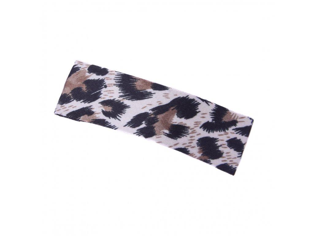 Sponka do vlasů Leopard - světle hnědá