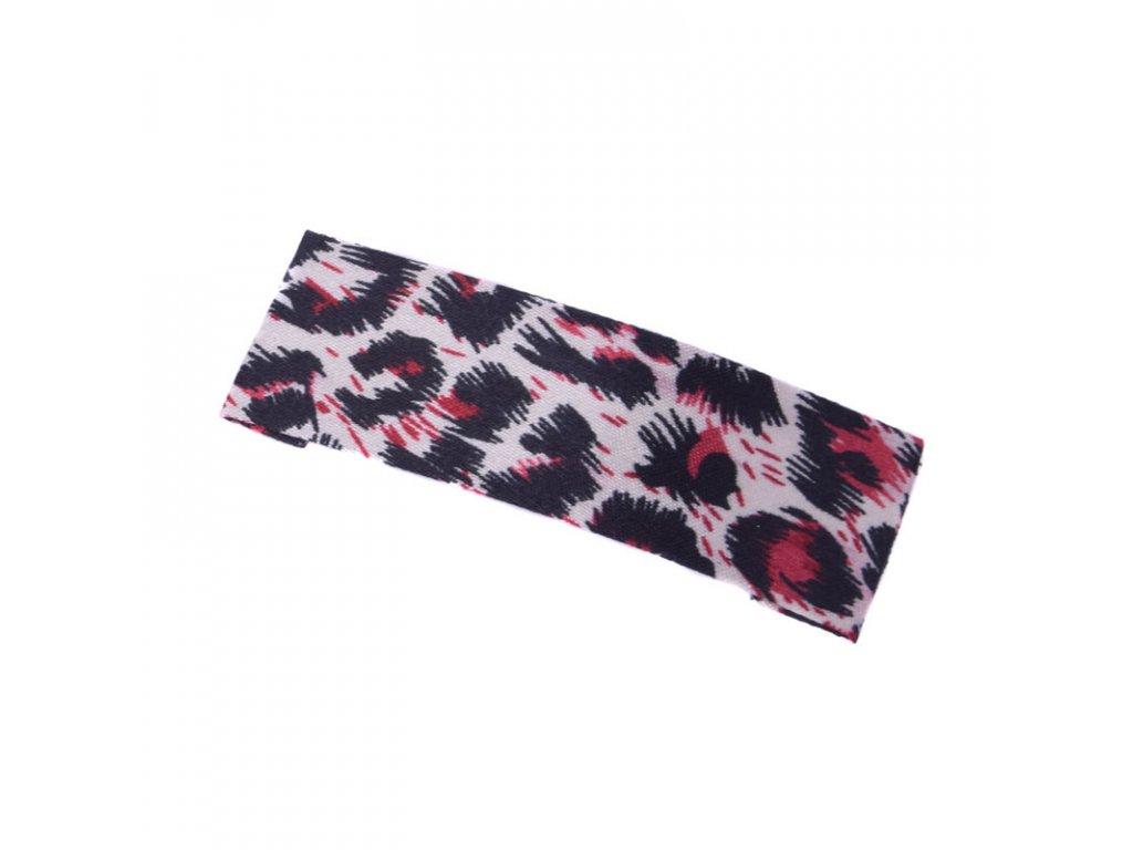 Sponka do vlasů Leopard - červená