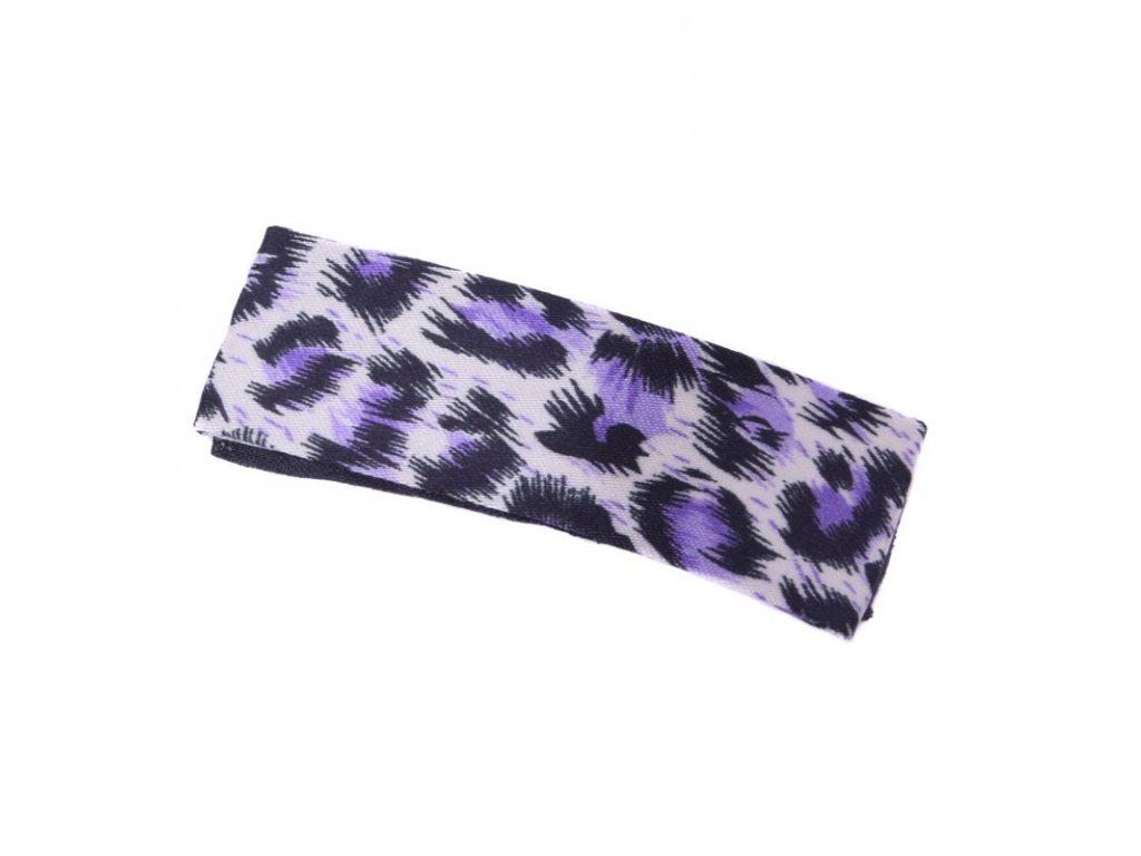 Sponka do vlasů Leopard - fialová