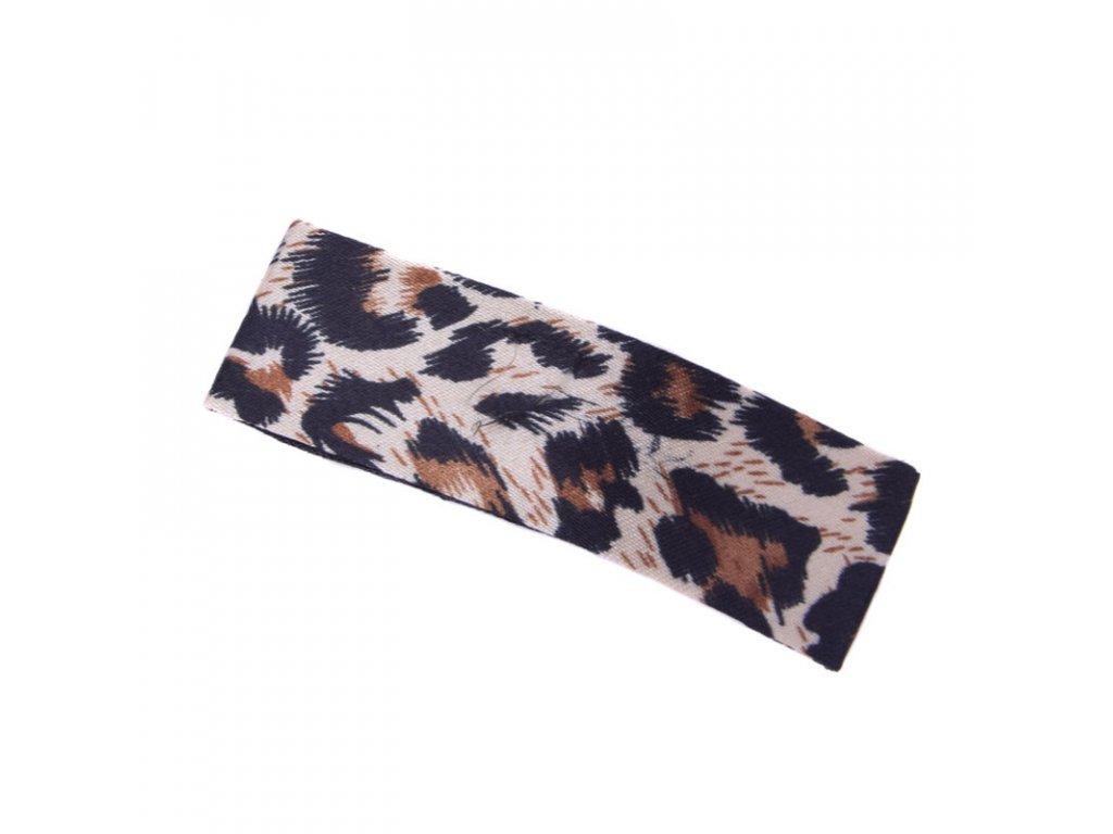 Sponka do vlasů Leopard - tmavě hnědá
