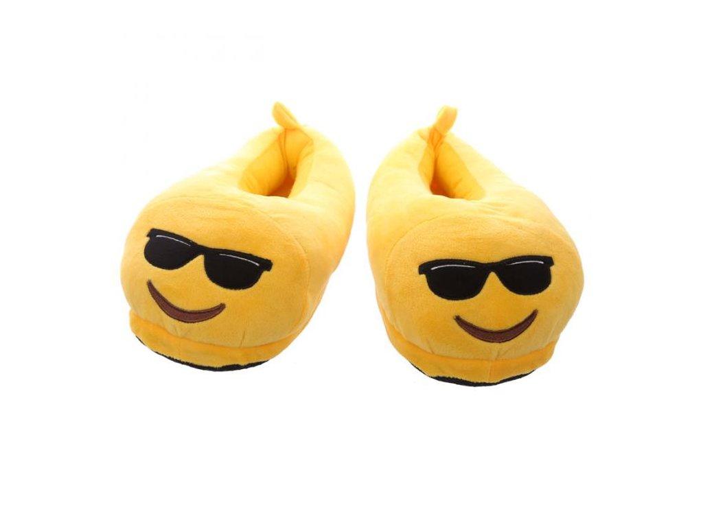 Bačkory smajlík se slunečními brýlemi