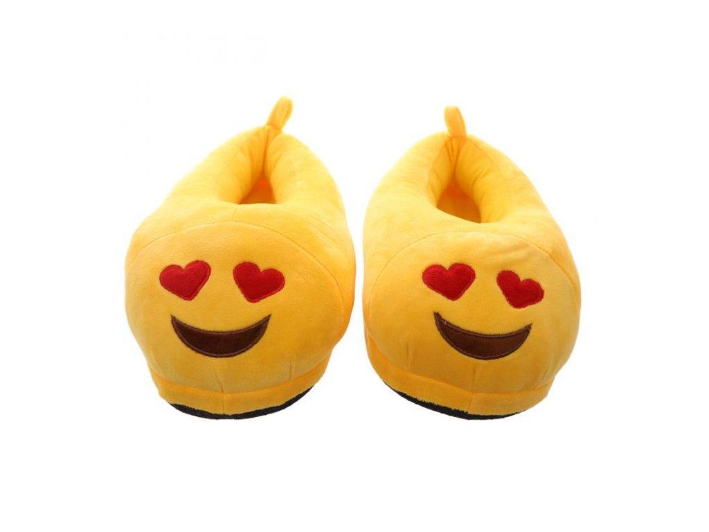 Originální bačkory zamilovaný smajlík