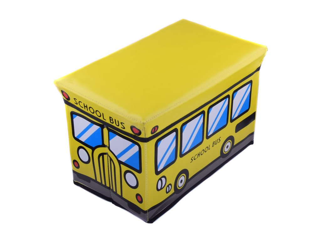 Skládací taburet Školní autobus