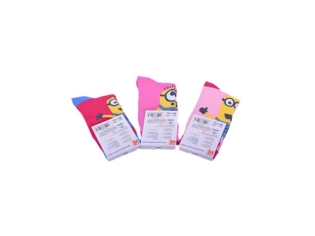 Veselé ponožky Mimoni 3 druhy