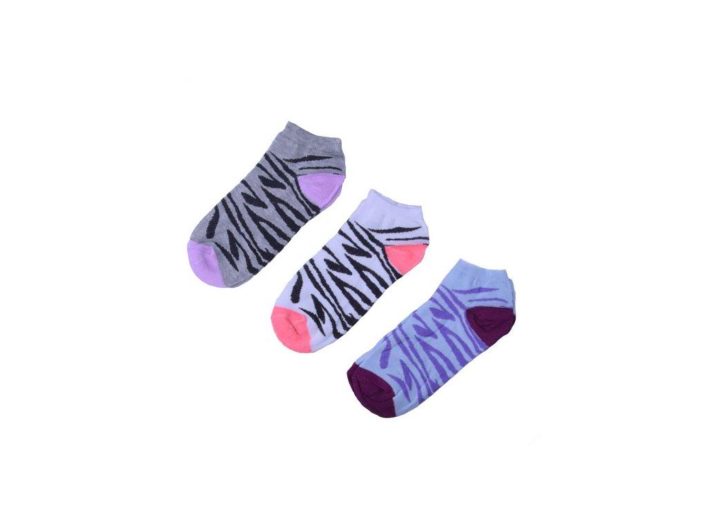Barevné tygrované ponožky 3 páry/set2