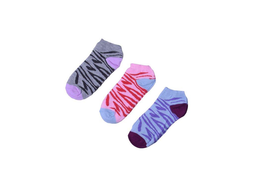 Barevné tygrované ponožky 3 páry/set4