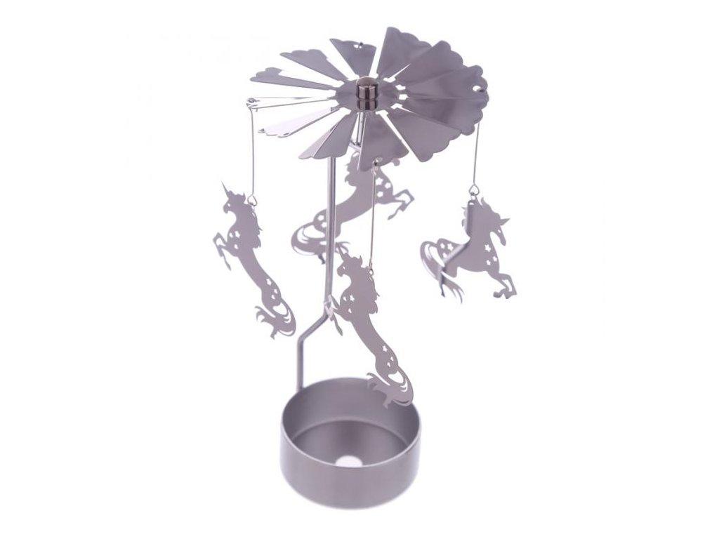 Kolotoč na čajovou svíčku Jednorožec