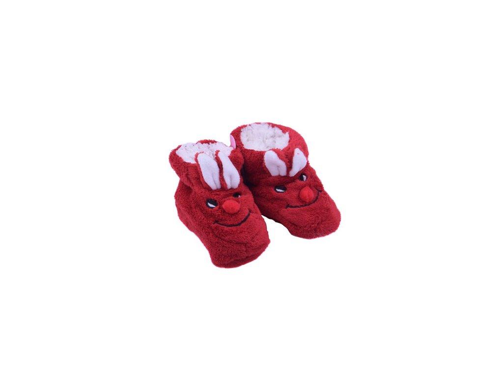 Capáčky Králíček červená 12 cm