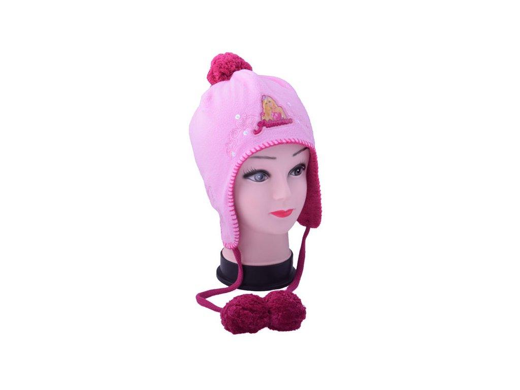 Dětská zimní čepice Barbie 2 barvy