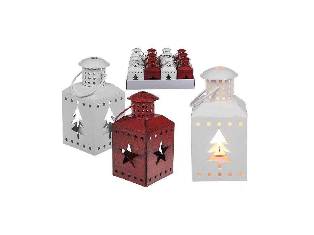 Kovová lucerna s vánočním motivem