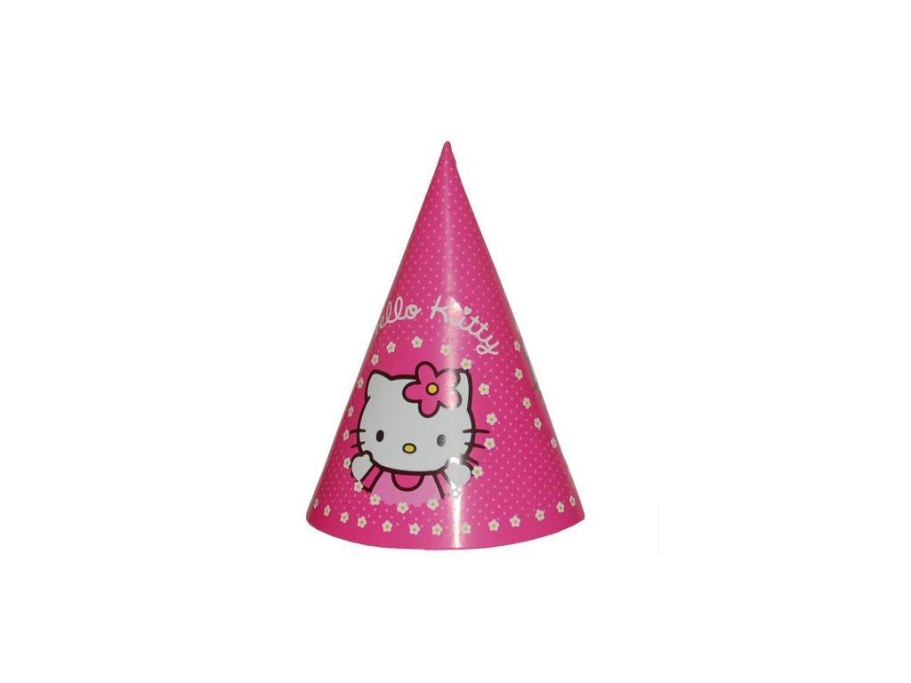 Párty čepička Hello Kitty 8 ks