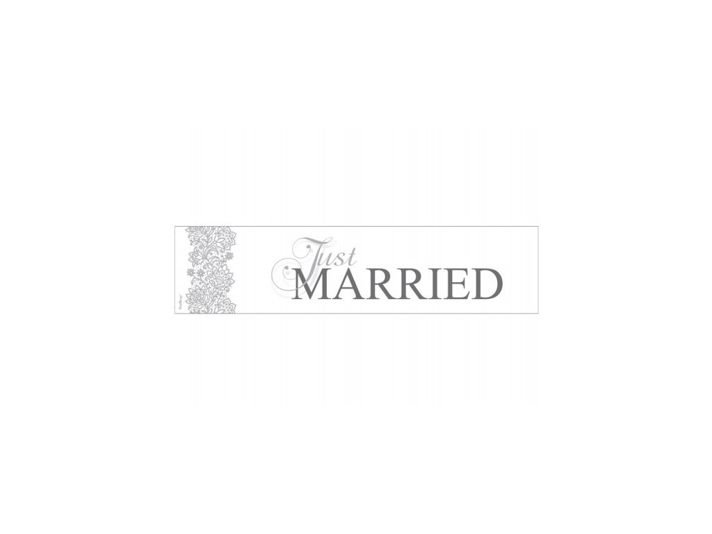 Svatební SPZ Just Married bílá