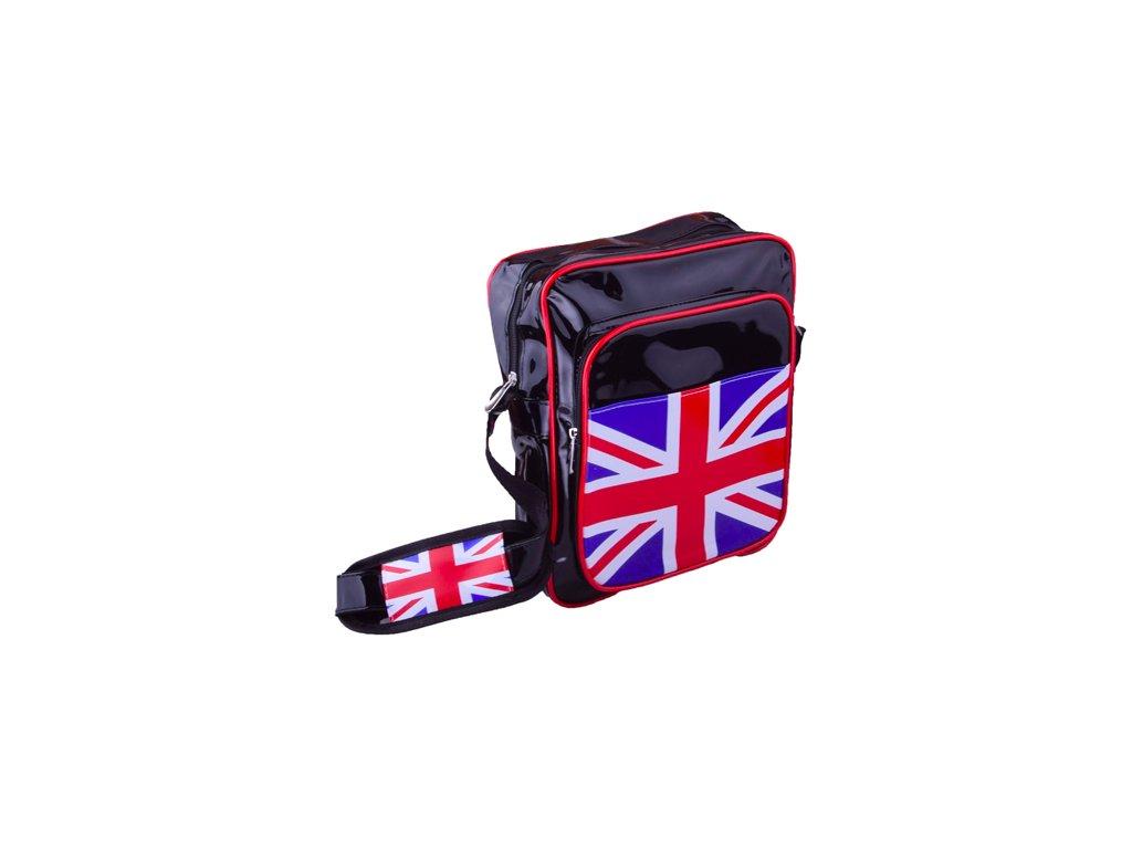 Lesklá kabelka s motivem Anglie