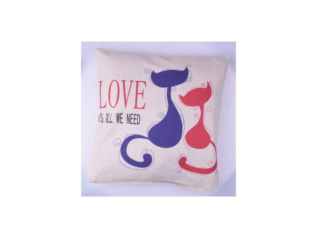 RS Povlak na polštář Cats love 42x42 cm