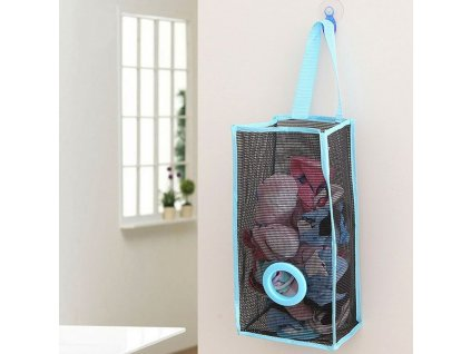 Zásobník na igelitové pytlíky - modrý