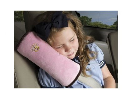 Cestovní polštář do auta na pás - růžový
