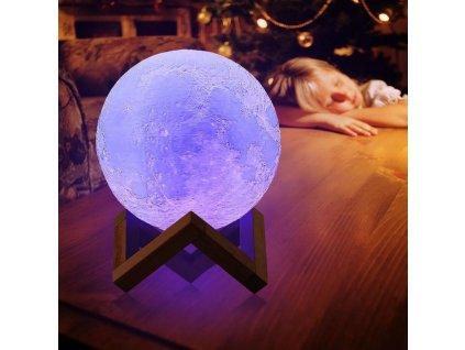 Lampička - barevný Měsíc