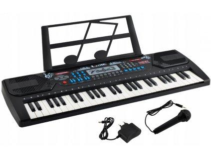 Elektronické klávesy 54 kláves černá