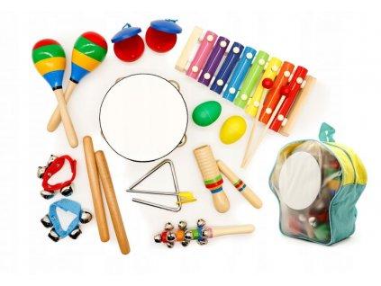 Hudební sada 10 nástrojů + batoh ECOTOYS
