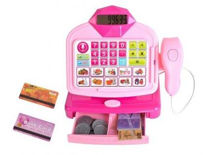 Dětská pokladna se skenerem růžová