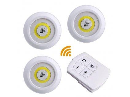 LED světlo s ovládačem - 3 kusy