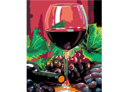 Malování podle čísel - víno