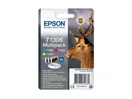 Epson inkoustová náplň/ T1306/ Multipack T1306 DURABrite Ultra Ink/ 3x barvy