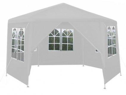 Malatec 10122 Zahradní párty stan šestiúhelník + 6 bočních stěn bílý