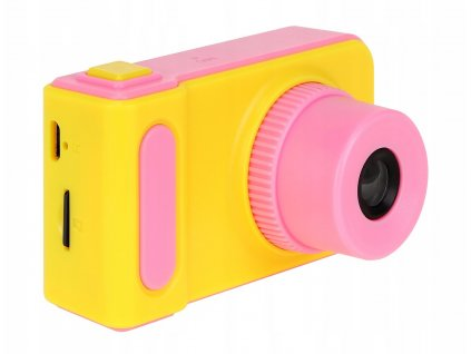 Dětský mini fotoaparát s kamerou na SD kartu - růžová