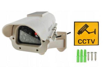 ISO 5882 Atrapa kamery se solárním panelem
