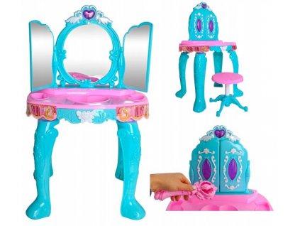 Toaletní stolek pro dívky - 3 zrcadla
