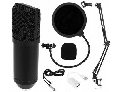 Profesionální studiový mikrofon pro náročné uživatele se stojánkem