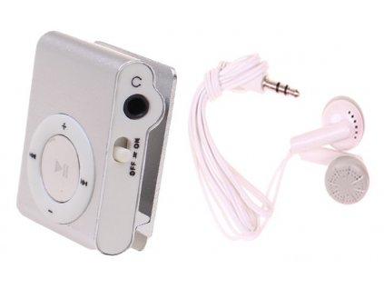 MP3 MINI přehrávač - stříbrná