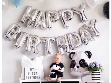 Narozeninové balónky - stříbrné