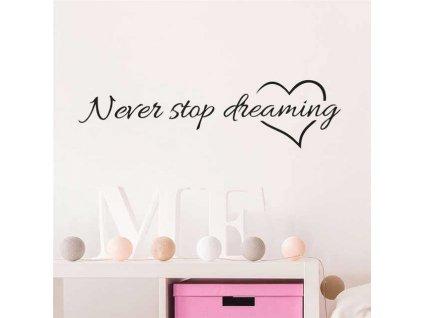 Samolepka na zeď - Never stop dreaming
