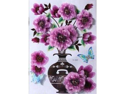 3D samolepka květina - fialová