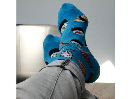 Barevné ponožky - sushi