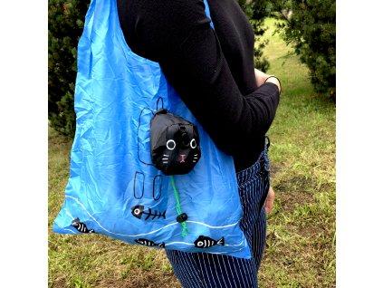 Skládací nákupní taška - kočka