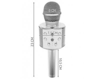 Karaoke mikrofon - stříbrná