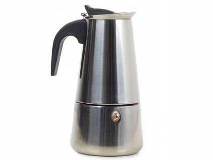 Verk 07008 Moka konvice 9 - 450 ml - stříbrná