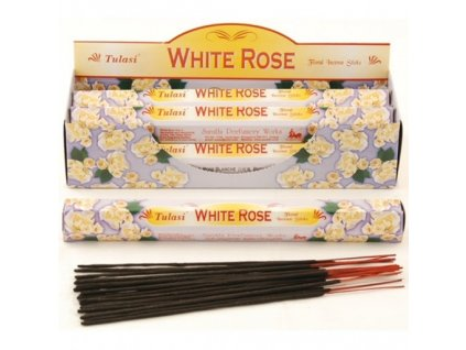 Vonné tyčinky Tulasi - Bílá růže