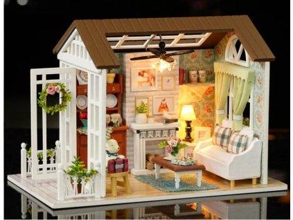 Dřevěný domeček pro panenky salón KX6995