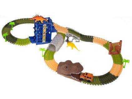 Dinosauří autodráha 175 dílků Kik